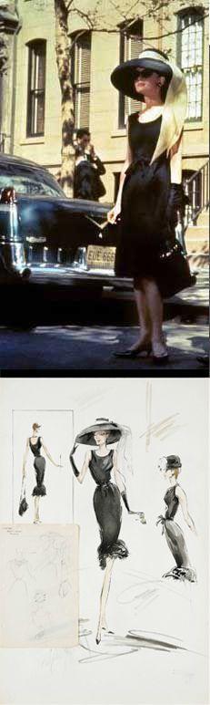 Audrey Hepburn in 'Breakfast at Tiffany's' (1961). Costume Designer- Edith Head