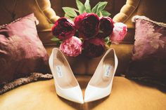 Jimmy Choo Bridal Shoes   Maryanne Weddings Photography   Halfpenny London Wedding Dress   Jimmy Choo Pumps   Flower Crown   Coast Bridesmaid Dresses   Houchins   A Vintage Wedding