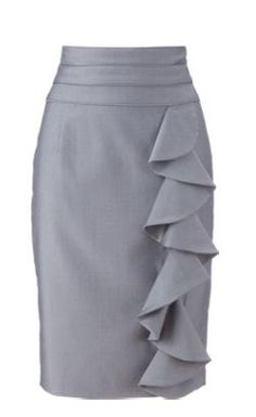great ruffle pencil skirt for the tall not small women of the world from Long…