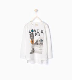 Organic cotton printed T-shirt-View all-T-shirts-Girl-Kids | 4-14 years-KIDS | ZARA Thailand