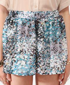 Confetti Print Shorts