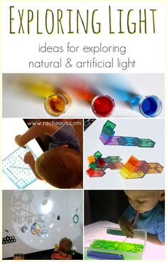 Exploring Light | ideas for exploring natural and artificial light - Day 17 in the 30 Days to Transform Your Play series #30daystyp