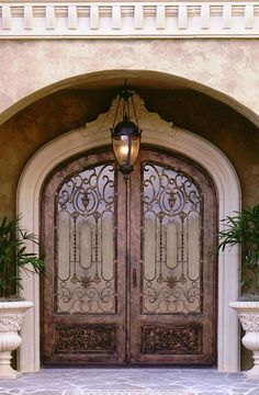 Cantera Doors provides hand-forged, custom-made iron staircase & balcony railings for your home in Texas & Florida. Call us at doors entrance wrought iron Front Door Entryway, Iron Front Door, Exterior Front Doors, Entrance Doors, Iron Staircase, Wrought Iron Doors, Balcony Railing, Front Door Design, Unique Doors