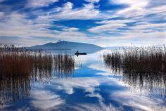 """Fisherman's blues"" by Hercules Milas   Redbubble Hercules, Lakes, Greek, Nature, Travel, Naturaleza, Viajes, Destinations, Traveling"