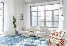An industrial, minimal and nordic living in New York downtown