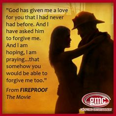 Quotes that inspire fire in you and make you fireproof. Just Like a PILOCH fireproof Bag Fireproof Quotes, Lyric Quotes, Me Quotes, Lyrics, I Love My Wife, My Love, Kirk Cameron, Love Dare, Christian Films