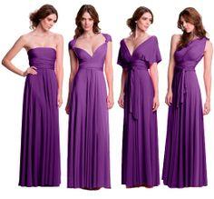 Convertible floor length bridesmaids dress, infinity dress, 27 ways to wear. Neat idea! Same dress but different ways to wear it later