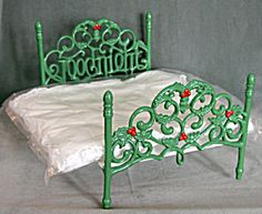 Christmas Iron Doll Bed