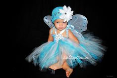 Snowflake Tutu Dress, great for a blue fairy Halloween costume. @Little Diva Tutus