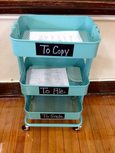 Ikea cart for the classroom.