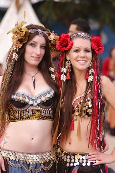 Love the headpieces! Samira and Soraya by ~PaigeKay on deviantART pic by Mark Krause