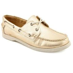 White Mountain Gold Boat Shoes