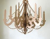 White Cardboard Chandelier - Laser Cut Party Decor. $36.00, via Etsy.