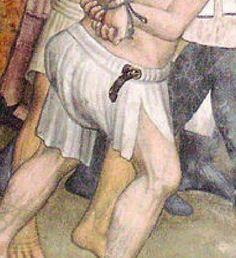 Men's underwear with a belt in the waist casing Artist: Giacomo Jaquerio From: Abbazia di Sant'Antonio di Ranverso, Buttigliera Alta, Italy Dating: 1410