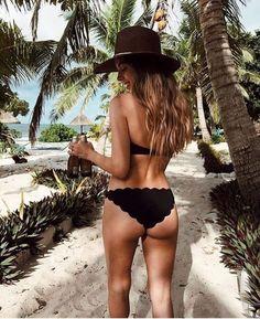 scalloped bikini.