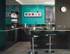 Castorama : Cuisine Gossip Noir. Une brillante idée de la cuisine