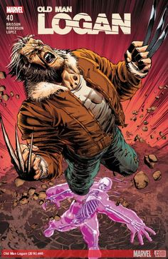 Old Man Logan Vol 2 cover by Mike Deodato Marvel Wolverine, Wolverine Old Man Logan, Marvel Vs, Marvel Dc Comics, Cosmic Comics, Marvel Heroes, Comic Book Heroes, Comic Books Art, Comic Art