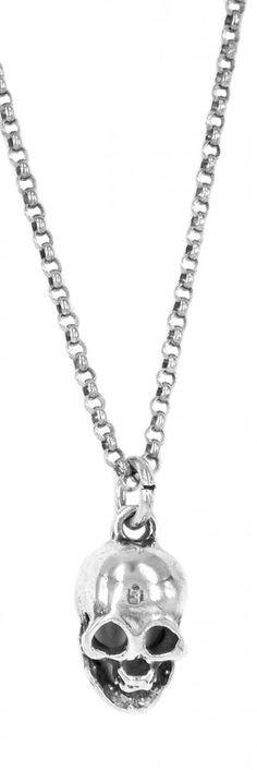 skull necklace by silver cyanide