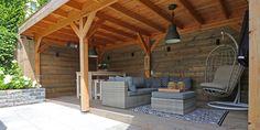 Tips voor het inrichten van een veranda of overkapping - Kees Smit Budget Patio, Patio Dining, Porch, Lounge, Backyard, Exterior, Outdoor Structures, Outdoor Decor, Tvs