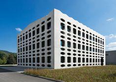 #hexagon-al openings in #concrete veil reveal glass office building, by wurm+wurm #architects http://www.designboom.com/architecture/wurm-wurm-neutrabuilding-germany-11-14-2014/…