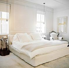Pared-Down White Bedroom | from Lonny | @House & Home