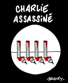 226. Baudry Hommage aux victimes, solidarité et soutien total en 40 dessins - N°8/40 :