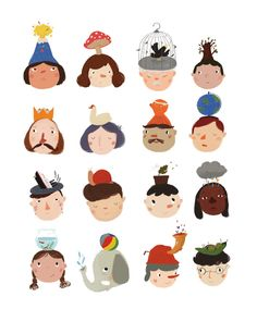 find your ''hat'' on Behance Illustration Example, Kawaii Illustration, Illustration Art Drawing, Character Illustration, Digital Illustration, Illustrations, Character Concept, Character Design, Cute Bear Drawings