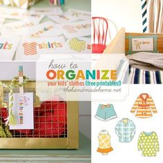 10 ways to make doing kids' laundry easier! Printable labels to attach to dresser drawers.