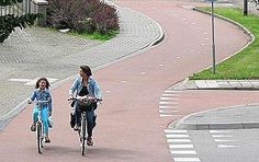 Cycle path, NL. Photo: Mark Wagenbuur @BicycleDutch. Click image to tweet and visit the slowottawa.ca boards >> http://www.pinterest.com/slowottawa/