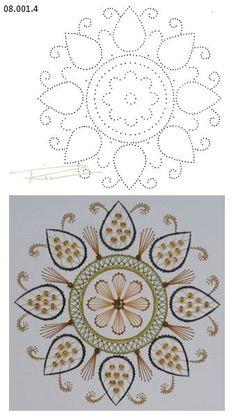 08.001.4 borduren op papier 08.001.4 embroiderie on paper 08.001.4 broderie sur papier