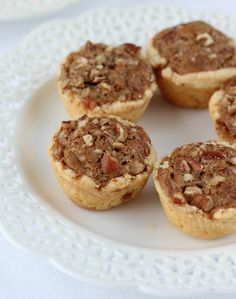 My Great-Grandmother Rosa's Pecan Tassies - mini pecan pies in a fabulous cream cheese crust. Addicting and the perfect Fall treat! So yummy and pretty easy to make Pecan Desserts, Pecan Recipes, Mini Desserts, Christmas Desserts, Christmas Baking, Just Desserts, Cookie Recipes, Delicious Desserts, Dessert Recipes