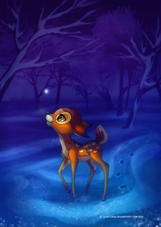 *BAMBI - First Snow by ~lilastudio on deviantART