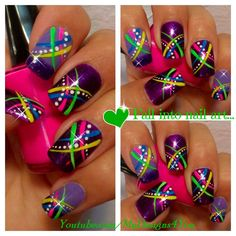 Image via Colorful Nail Art Designs Image via Amazing Rainbow Nail Art Designs Image via Alternative to traditional wedding nails. Sunflower theme Image via Cute and Easy Neon Nail Art, Colorful Nail Art, Neon Nails, Easy Nail Art, Diy Nails, Fingernail Designs, Toe Nail Designs, Fancy Nails, Pretty Nails