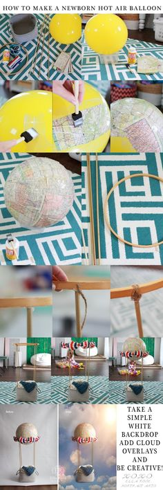 Crafting & Coffee Makes this Momma Happy: How To Make a Newborn Hot Air Balloon Photography Prop