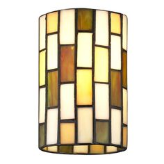 Design Classics Lighting Cylindrical Tiffany Glass Shade - 1-5/8-inch fitter | GL1038 | Destination Lighting