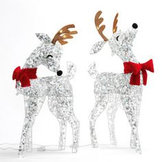 sylvania 2 pack 3 ft outdoor led christmas deer - Lowes Christmas Decorations