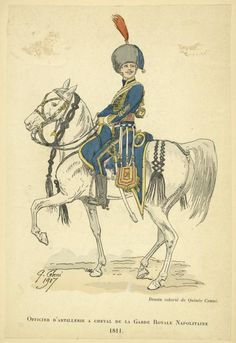 Kingdom of Naples; Officer Horse Artillery of the Guard 1811.