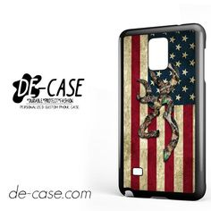 Browning Deer Camo American Flag Wood For Samsung Galaxy Note 4 Case Phone Case Gift Present