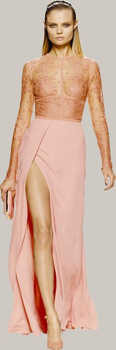 ELIE SAAB - Ready-to-Wear - Spring Summer 2014 (just de color anda the skirt) 2014 Fashion Trends, Fashion 101, Covet Fashion, Couture Fashion, Bride Sister, Glamour, Yes To The Dress, Elie Saab, Playing Dress Up