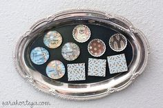 Sarah Ortega: diy {magnets} homemade magnets for our family dinner board and prayer board. Homemade Magnets, Diy Magnets, Marble Magnets, Glass Magnets, Locker Magnets, Crafts To Make, Fun Crafts, Arts And Crafts, Holiday Crafts