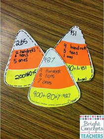 Place Value - Candy Corn Place Value perfect for the fall season!