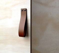 Leather Loop in Saddle Tan from Made Measure I Remodelista #Leather