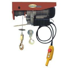 Northern Industrial Electric Hoist - 750/1500-Lb. Capacity by Northern Industrial. $206.99. Heavy-duty electric hoist has 750-lb. capacity with single line, 1500-lb. capacity with double line. 16-gauge antitwist wire, spring-loaded remote buttons and emergency stop button. Great for lifting engines, tables, lumber, shop equipment and a whole range of other products. The biggest advantage to this hoist is that you do not need to climb a ladder and crank a lever; you...