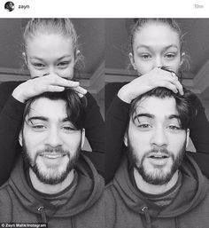 Going strong: Zayn Malik shared an Instagram photo on Tuesday of himself with girlfriend G...