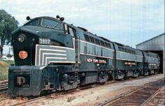 "New York Central Baldwin ""Sharknose"" Diesels.The D & H had 2 of these"