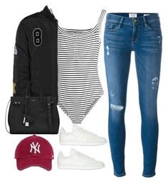 """""""Untitled #3812"""" by theaverageauburn ❤ liked on Polyvore featuring Frame, Topshop Unique, Yves Saint Laurent and adidas Originals"""