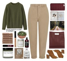 Untitled #2685 by tacoxcat on Polyvore featuring polyvore fashion style Toast Topshop Office 3.1 Phillip Lim Dagmar Maybelline Fig+Yarrow Très Pure Linum Home Textiles FOSSIL clothing