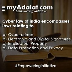 https://flic.kr/p/GDQueJ | Cyber Law | Do you know about Cyber Law? To know more, talk to our experts @ www.myadalat.com