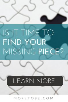 Would you like to find the missing piece in your life? Do you feel like you're lacking purpose? Direction? Understanding your calling? You can find vision, purpose, and clarity, if  . . .