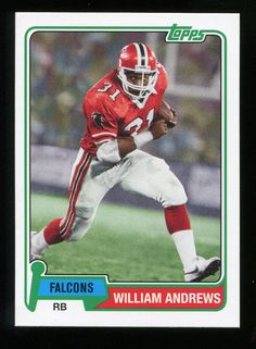 2013 Topps Archives SP WILLIAM ANDREWS Falcons Football, Football Memes, Jimmy Perry, Nfl Detroit Lions, Sport Hall, Sports Figures, Tough Guy, Professional Football, Running Back